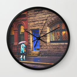 New York City Rainy Afternoon Wall Clock