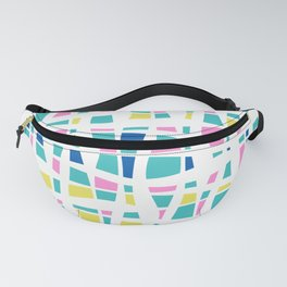 Colorful Preppy Abstract Line Art Fanny Pack