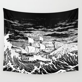 Galleon (line) Wall Tapestry