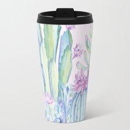 Mixed Cacti Pink #society6 #buyart Travel Mug