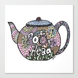 Tea Pot Head Canvas Print