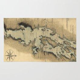 Vintage Map of Lake Champlain (1865) Rug