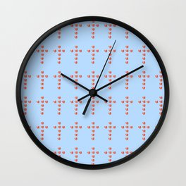 Christian cross and heart Wall Clock