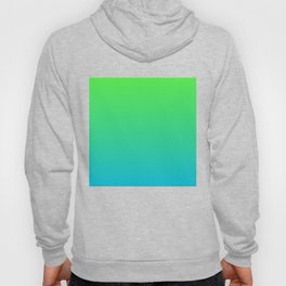 Lime to Turquoise Ombre Hoody