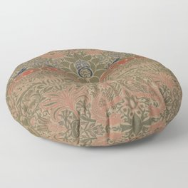 Peacock and Dragon by William Morris 1878, Antique Vintage Wall Hanging Pattern CC0 Spring Summer Floor Pillow
