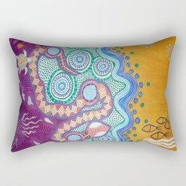 Rainbow Serpent Rectangular Pillow