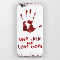 gore iPhone & iPod Skins featuring Love Gore by Victor Rodriguez