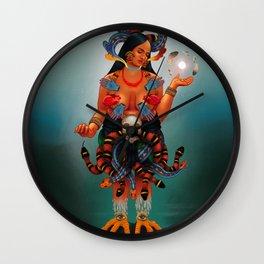 The Tonantzin Coatlicue | The Tepeyac Diptych Wall Clock