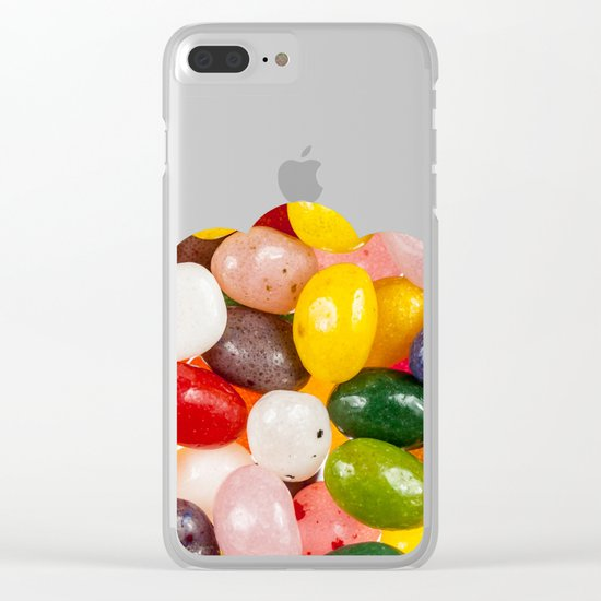 Cool colorful sweet Easter Jelly Beans Candy Clear iPhone Case