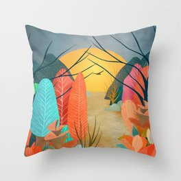 Mystery Garden III Throw Pillow