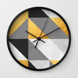 Gold Composition I Wall Clock