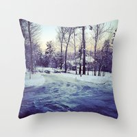 neverland Throw Pillows featuring Neverland by Out of Line
