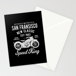 authentic motorcycle Stationery Cards