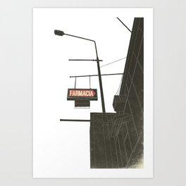 Farmacia Art Print