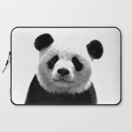 Black and white panda portrait Laptop Sleeve