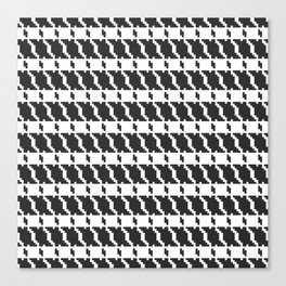 Black and white geometric abstract background, cloth pattern, goose foot. Pied de poule. Ve Canvas Print