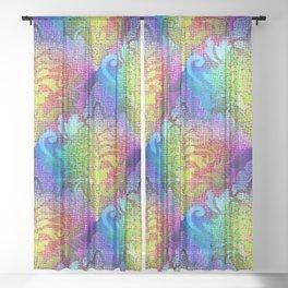 Damask Tapestry Pattern II Sheer Curtain