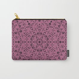 Ornament, abstract, Milena 5, purple, black Carry-All Pouch