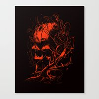 vader Canvas Prints featuring VADER by nicebleed