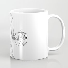 Female Basketball Player Doodle Art Coffee Mug