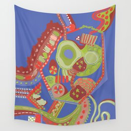 clouds, streets, pools and parking lots Wall Tapestry