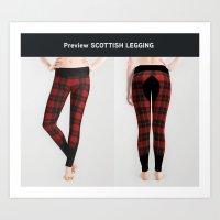 Scottish legging Art Print