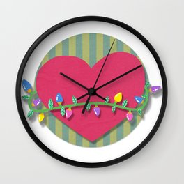 Christmas heart Wall Clock