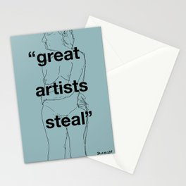 Great Artists Steal Stationery Cards