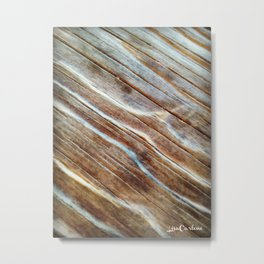 Wooden Waves Metal Print