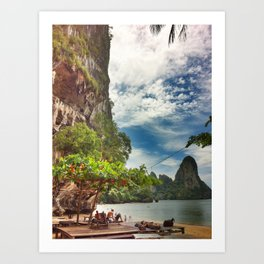 Bright Cliffs of Railay Art Print