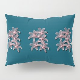 Tiger Lilies in Blue and Pink Pillow Sham