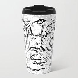 Apathy - b&w Travel Mug