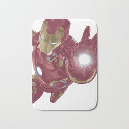 Ironman Super Character Design in Vector Bath Mat