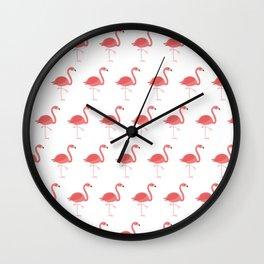 Pink Flamingos pattern Wall Clock