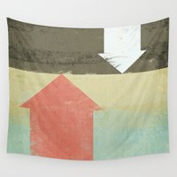 arrows Wall Tapestries featuring Arrows by Metron