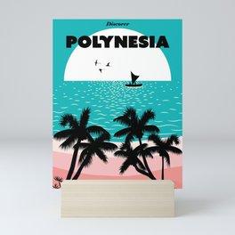 Polynesia vintage travel poster Mini Art Print
