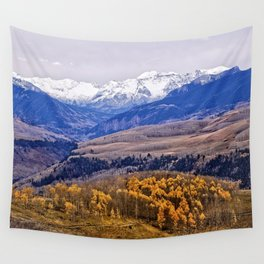 Mountain majesty and autumn gold Wall Tapestry