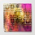 1001 Lights Pattern (gold-magenta-vermillion) by nataliecatlee