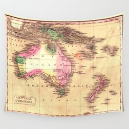 Map Of Australia 1828 Wall Tapestry