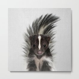 Skunk - Colorful Metal Print