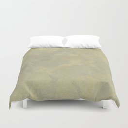 Champagne Skies Silver And Gold Metallic Plasters - Fancy Faux Finishes Duvet Cover