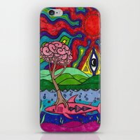 swim iPhone & iPod Skins featuring Swim by Ichsjah
