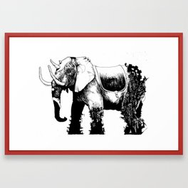 Elephant Machine God Framed Art Print