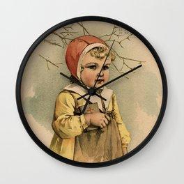 Swedish Girl Maud Humphrey Wall Clock