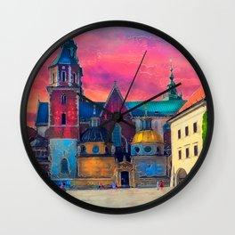 Cracow Wawel art Wall Clock