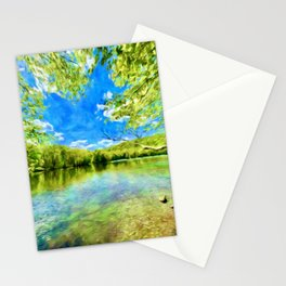Magical Flow on the Lake Stationery Cards