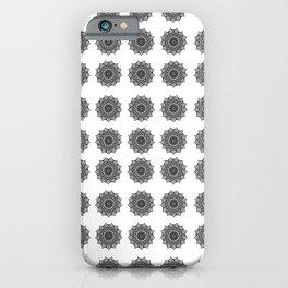 Black and White Mandala   Secret Geometry iPhone Case
