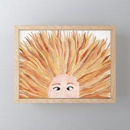 Autumn in Her Hair Framed Mini Art Print