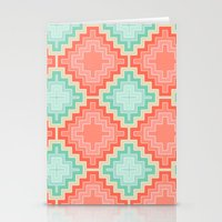 kilim Stationery Cards featuring coral mint kilim by musings