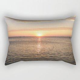 Sunset On The Venice Lagoon Rectangular Pillow
